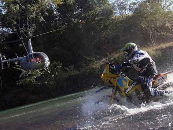 Foto: Tiago Fantozzi, o mais rpido do dia entre as motos
