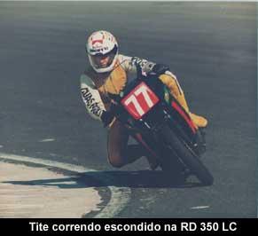 Foto: Tite na 'poca que corrida de DR 350