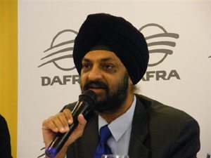 Foto: Presidente da TVS, Mr. Hardip Singh Goindi