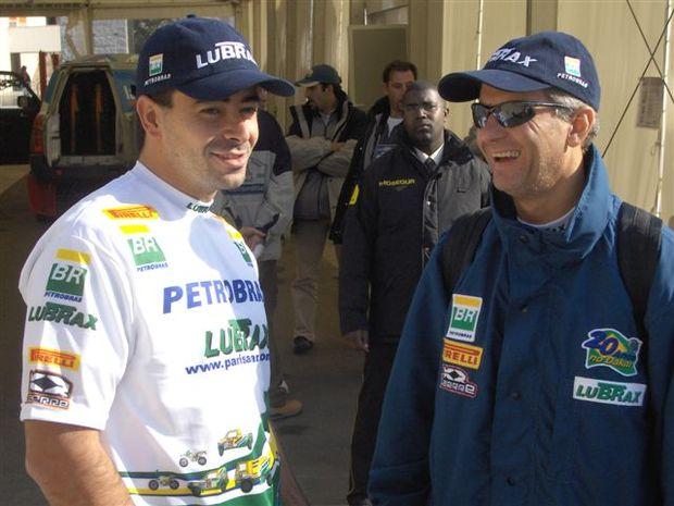 Foto: Maykel Justo e Andr' Azevedo durante as verifica‡äes t'cnicas, em Lisboa