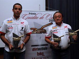 Foto: Dário Júlio (esq) e Wilson Yasuda no Prêmio Guidão de Ouro