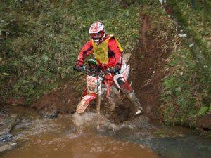 Foto: Sandro Hoffmann, piloto Honda de Enduro de Regularidade