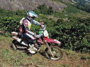 Foto: Dário Júlio, piloto Honda de Enduro de Regularidade