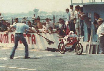 Em Interlagos, ainda em 78: primeiras bandeiradas na linha de chegada (foto: arquivo pessoal)