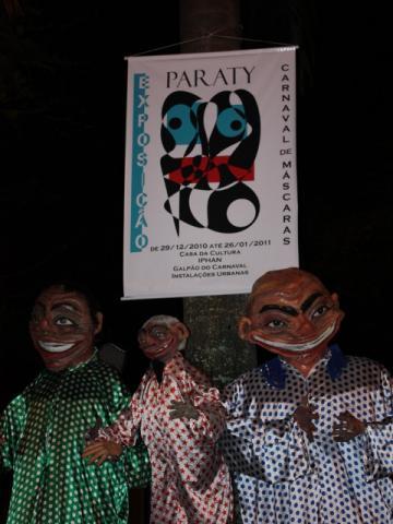 Máscaras de Carnaval em exposição na cidade