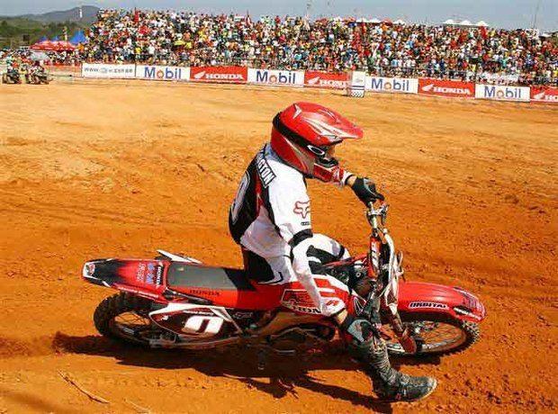 Foto: O goiano Wellington Garcia venceu pela 1¦ vez a MX2