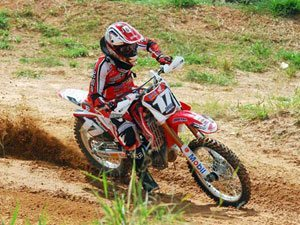 Foto: Thales Vilardi, piloto da MX2 do Team Honda