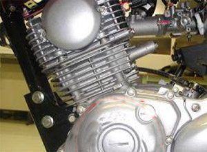 Foto: Motor Yamaha 125 injetado