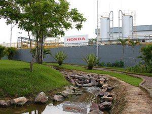 Foto: O programa Green Factory (fbrica ecol¢gica) que ' aplicado nas unidades da Honda em todo o mundo