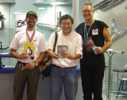 Foto: Tite, Ryo Harada e Renzo Querzoli, diretor do filme Alma Selvagem