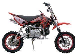 Foto: A mini-moto off-road FY-125EY-2 da FYM Motos do Brasil