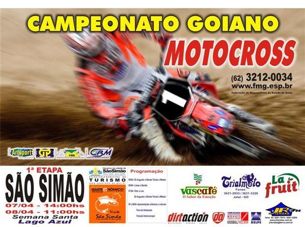 Goiano de Motocross começa em São Simão