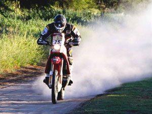 Foto: José Hélio, patrocinado pela Honda, é o melhor das Américas no Rally Dakar 2009