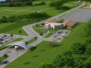Vista aérea do projeto do empreendimento