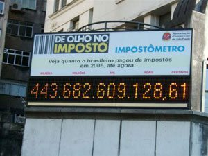 Impostômetro vai marcar meio trilhão de reais dia 2 de julho