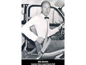 Invenção da Volvo, cinto de segurança de três pontos completa 50 anos
