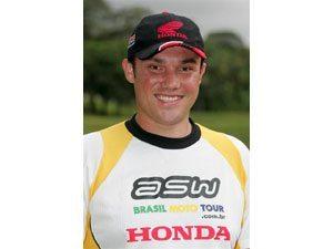 Foto: José Hélio, piloto patrocinado pela Honda