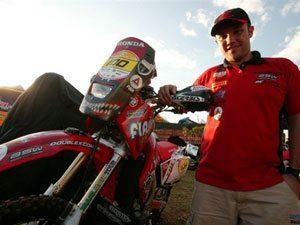 Foto: José Hélio, piloto de rali patrocinado pela Honda