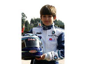 Foto: O jovem piloto Matheus Chequer