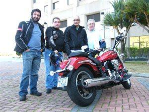 Foto: Gabriel Marazzi, André Garcia, Bitenca e João Tadeu no lançamento de ontem em Guarulhos, SP