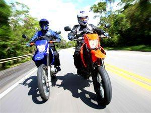 Linha Yamaha XTZ 250 2009: qual a sua, trail ou supermotard?
