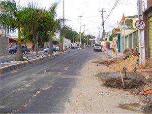 Foto: Retrato da avenida principal.