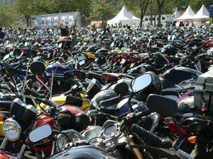 Foto: Estacionamento do Dia do Motociclista