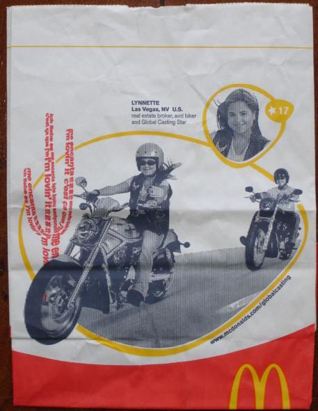 McDonalds: nos EUA motociclista é valorizado