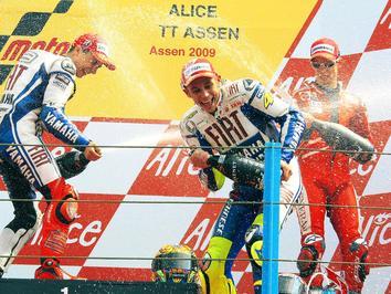 Mestre Rossi conquista 100ª vitória em GPs na pista de Assen