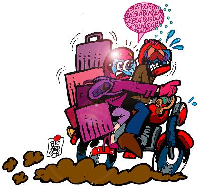 Minha vida numa moto - Viajando com garupa