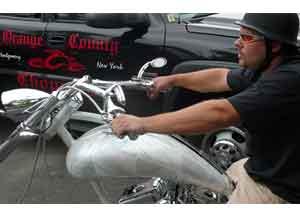 Moto criada especialmente pelo Orange County Choppers para o evento
