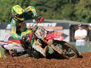 Foto: Leandro Silva - piloto do Team Honda representa o Brasil no Motocross das Nações 2008