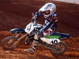 Foto: Gustavo Roratto ' piloto da categoria 65cc