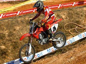 Foto: Hector Assun‡Æo, da 85cc, no Brasileiro de Motocross