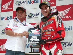Foto: Wellington Garcia, piloto da MX1 do Team Honda