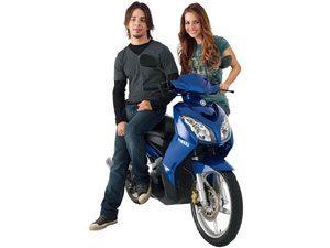 Foto: Campanha Yamaha Neo CVT com Sandy e Junior