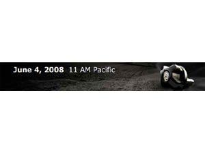 Foto: Banner que aparece nos sites americanos da Yamaha e que ' igual aos europeus, indicando contagem regressiva para an£ncio de grande surpresa no dia 04 de junho