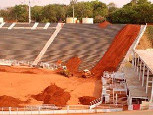 Foto: Arena do Parque do PeÆo j est sendo adaptada para receber a 2¦ Etapa do Campeonato Brasileiro de Supercross