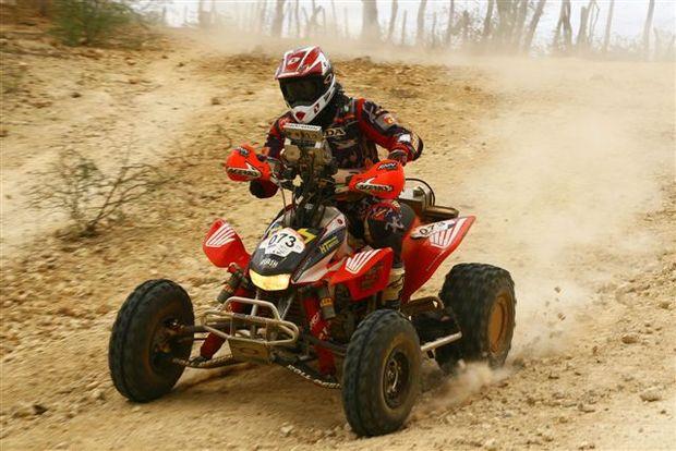 Foto: Robert Naji Nahas, piloto patrocinado pela Honda, busca o título do Rally dos Sertões na categoria quadriciclo