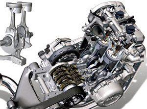 Foto: Raio-X do motor BMW F800 de dois cilindros