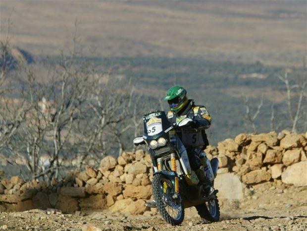 Foto: Jean Azevedo durante a 5¦ etapa do Dakar, no Marrocos