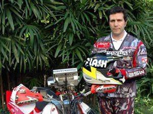 Foto: Robert Naji Nahas,o primeiro brasileiro a vencer uma etapa de Campeonato Mundial de Quadriciclos