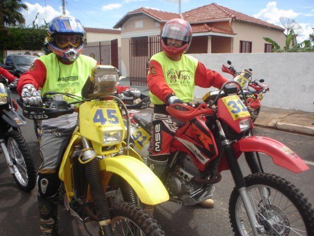 Foto: Neder Fiorilli e Andr' Tristao no Rally Potirendaba