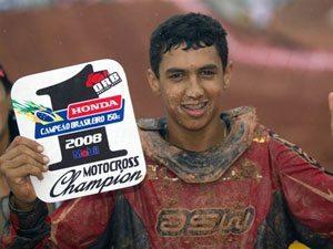 """Foto: Rodrigo """"Lama"""", piloto do Team Honda na categoria 85cc"""