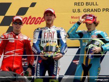 Rossi pára Stoner para conquistar primeira vitória em Laguna Seca