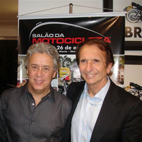 Foto: Emerson Fittipaldi e Alberto Pellegrini
