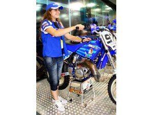 Salão Duas Rodas: moto de Stefany ficou exposta no estande da Yamaha
