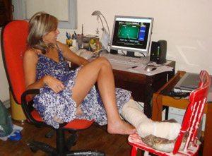 Foto: Dona Tita de pata quebrada: agora quer responder cartas!