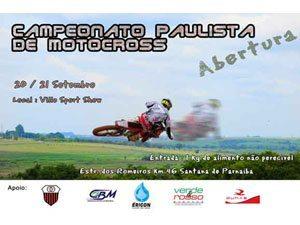 SANTANA DE PARNAIBA sedia Abertura do Campeonato Paulista de Motocross 2008