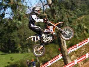 Foto: Kaio Miranda, piloto da categoria 65cc no Campeonato Brasileiro de Motocross